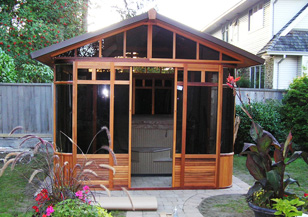 Spa enclosure chalet gazebos for Spa gazebo kits