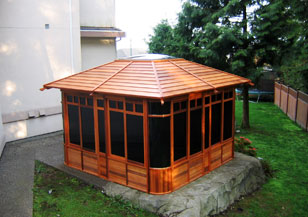Hot tub enclosure - Supreme gazebo