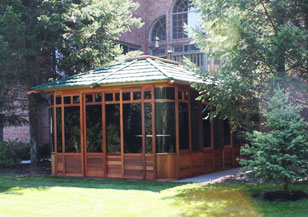 Hot tub enclosure - Vista gazebo